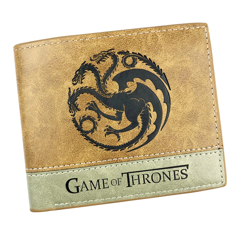 Casual Leather Embossing LOGO Purse Anime Game of Thrones Wallets Gift Teenager Men Women Card Holder Bags carteira Fold Wallet 3d wolf head embossing game wallet the witcher wallet women men animal purse credit card holder bag anime wallet w389