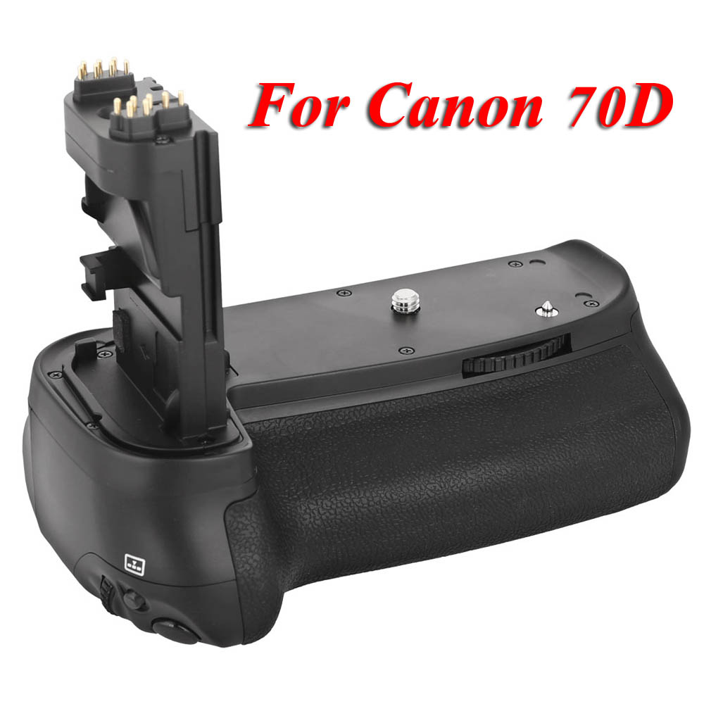 цена на MK-70D Vertical Battery Grip Multi-Power Battery Pack Holder for Canon 70D DSLR Camera Replace as BG-E14 BGE14
