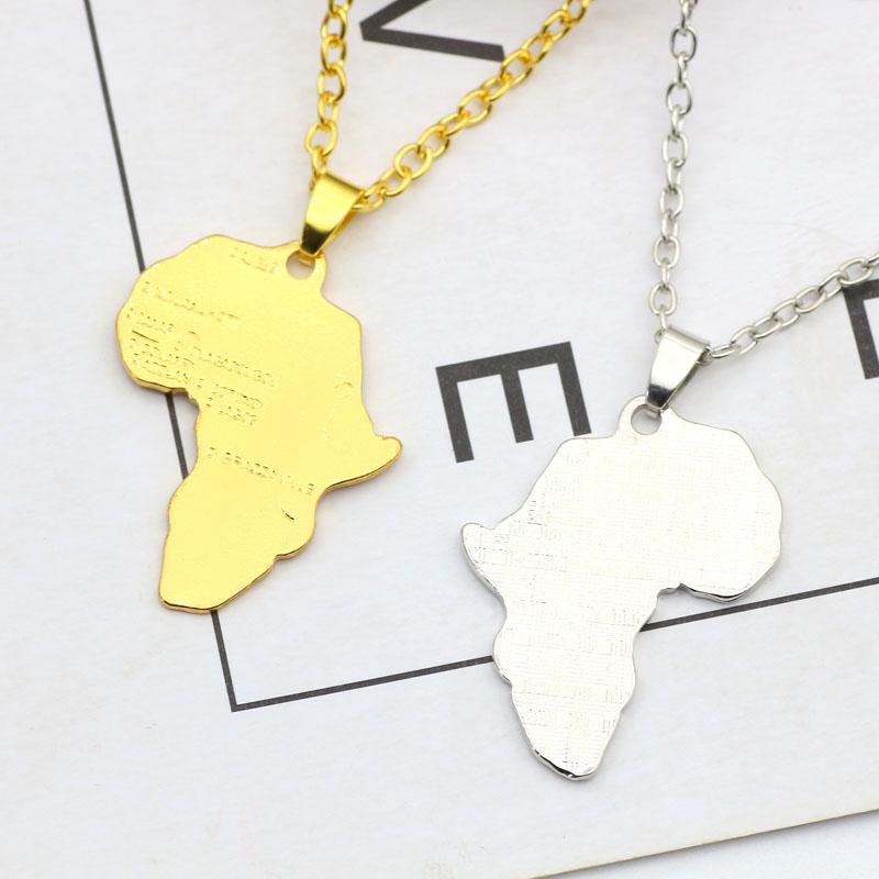 2017 trendy map of africa pendant hiphop gold silver african maps 2017 trendy map of africa pendant hiphop gold silver african maps necklace irregular metal ethiopian clavicle chain necklaces 2017 trendy map of africa aloadofball Images
