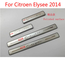 High-quality stainless steel Plate Door Sill Welcome Pedal Car Styling Accessories 4pcs/set For Citroen Elysee 2011