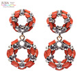 3 цветов Хорошее качество Новые женская мода серьги Белое Стекло сладкие камни стад хрустальные серьги для женщин девочек
