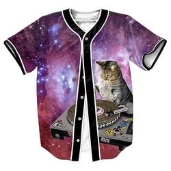 Men s shirts dj of the universe jersey cat 3d streetwear hip hop tops with single.jpg 250x250