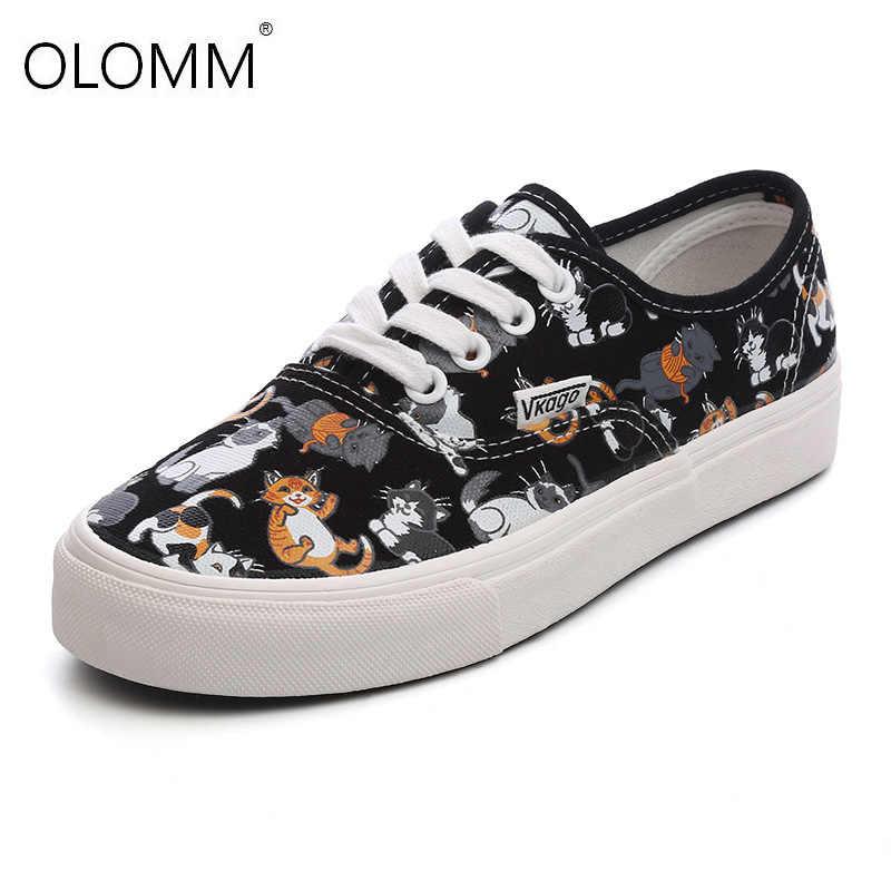Yeni Ulzzang Moda Ayakkabı Kadın kanvas ayakkabılar Bayan rahat ayakkabılar Eğitmenler Yürüyüş Kaykay Flats Tenis Chaussure Femmes