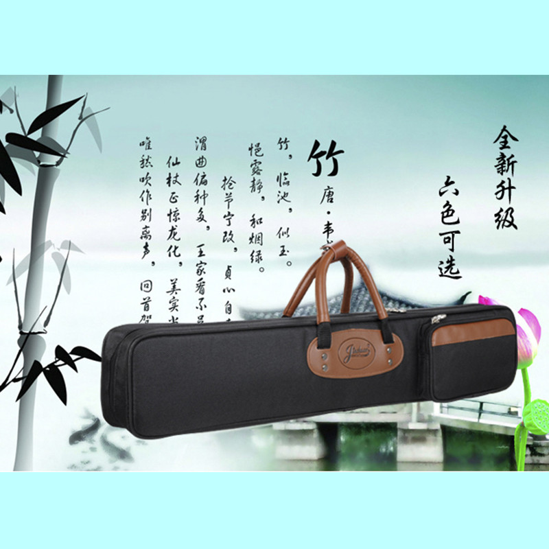 ФОТО 75cm Professional portable bamboo chinese dizi flute bag case design for concert  cover backpack with adjustable shoulder strap