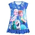 Anna & Elsa vestido crianças cosplay roupas de bebê meninas Elsa vestido crianças meninas princess party deress camisola Vestidos Infantis