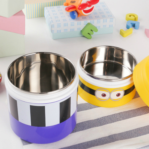Cartoon Despicable Me Lunchbox Stainless Steel Lunch Bento Box Heat Preservation Food Containers Tiffin Storage Boxes Lancheira