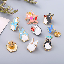 Cartoon totoro pig Pins and brooches pin Badges Hat Backpack Accessories Lovers jewelry Gift lover