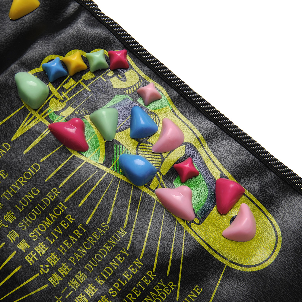 New Healthy Reflexology Walk Cobblestone Pain Relief Foot Massager Acupoint Massge Mat Pad Acupressure Gift