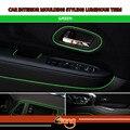 590inch15MetresDIY декоративные ленты для автомобиля  грузовика  салона  стайлинга  светящиеся ленты зеленого цвета  гибкие  без клея