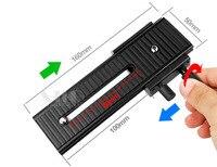 LP 01 Camera Tripod Head 2 Way Macro Focus Rail Slider Tripod Plate Free Shipping Tracking