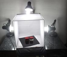 Adearstudio atacado cd50 40 cm lightbox foto caixa de luz foto tenda sem luz blub