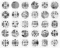 30 ШТ. х Рождество Стиль Новый Дизайн Моды DIY Ногтей Штамповки Пластин Изображения 3D Круглый Nail Art Шаблоны Трафаретов Маникюр инструменты
