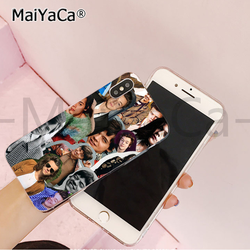 , MaiYaCa One Direction 1d Louis Pattern TPU Soft Phone Accessories Phone Case for iPhone X XS MAX  6 6s 7 7plus 8 8Plus 55S SE XR