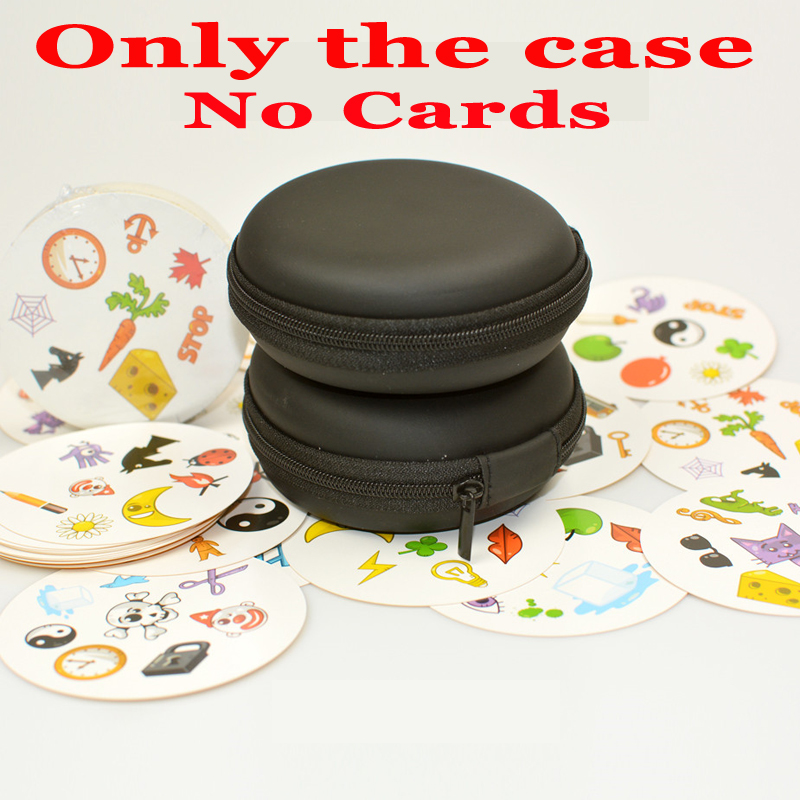 New Black Travel Zipper Carry EVA Case For Spot Cards It (no Cards) Round Game Cards Storage Collection Bag Holder Gift For Kids
