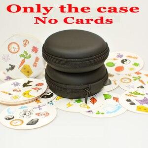 Funda EVA con cremallera para tarjetas, bolsa de almacenamiento para tarjetas de juego redondas, para regalo para niños, color negro