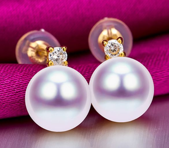 цена на a pair of gorgeous natural 9-10mm south sea White pearl earrings 18