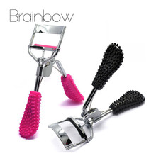 Brainbow 2Pcs/Lot Eyelash Curler Lash Curler Supplementer Clip with Drill Handle Delicate Women Eyelash Curler Eyes Makeup Tools(China)