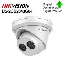 HIKVISION DS H.265 Macchina Fotografica DS 2CD2343G0 I 4MP IR Fisso Torretta Telecamera di Rete MINI Dome IP Camera slot per schede SD Viso Rilevare