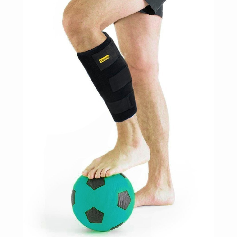 b31b543753 Yosoo Adjustable Calf Brace Shin Splints Leg Compression Wrap Support Guard  For Pulled Calf Muscle Pain Torn Calf Strain Injury-in Braces & Supports  from ...