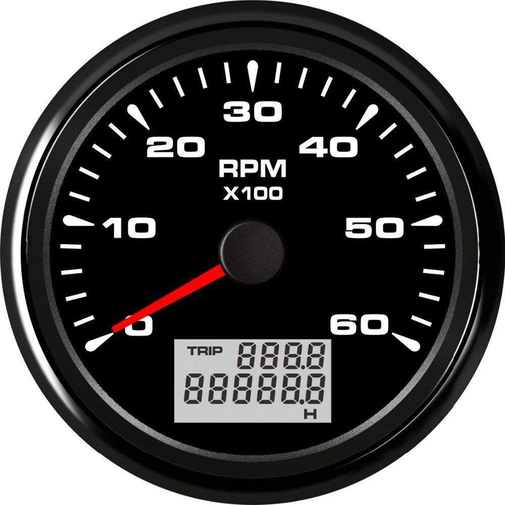 85mm LCD Digital Tachometer 6000 8000 3000 RPM Tacho Gauge Car Marine RPM Tachometer Gauge with
