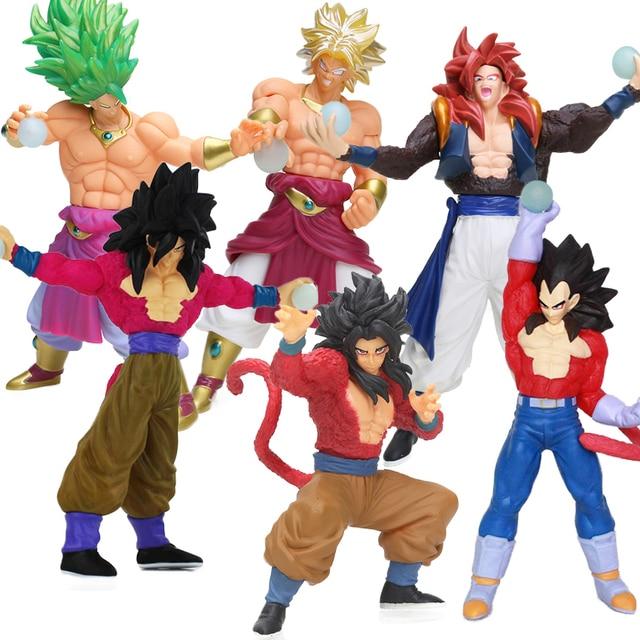 10 26cm Super Saiyan 4 Gogeta Goku Son Gokou Broly PVC Action Figures Collection Model