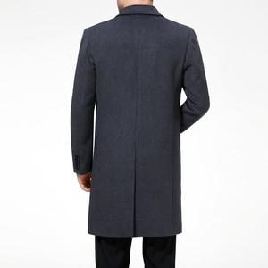 Image 3 - جواكيت طويلة للرجال من Mu Yuan Yang معاطف رسمية من الصوف المخلوط والصوف للشتاء الكامل للرجال معطف طويل من الكشمير 3XL 4XL