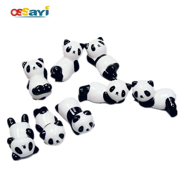 Cute Ceramics China Panda Ornament Chopsticks Knife Fork Tableware Stand  Holder Penholder Home Garden Potted Plants