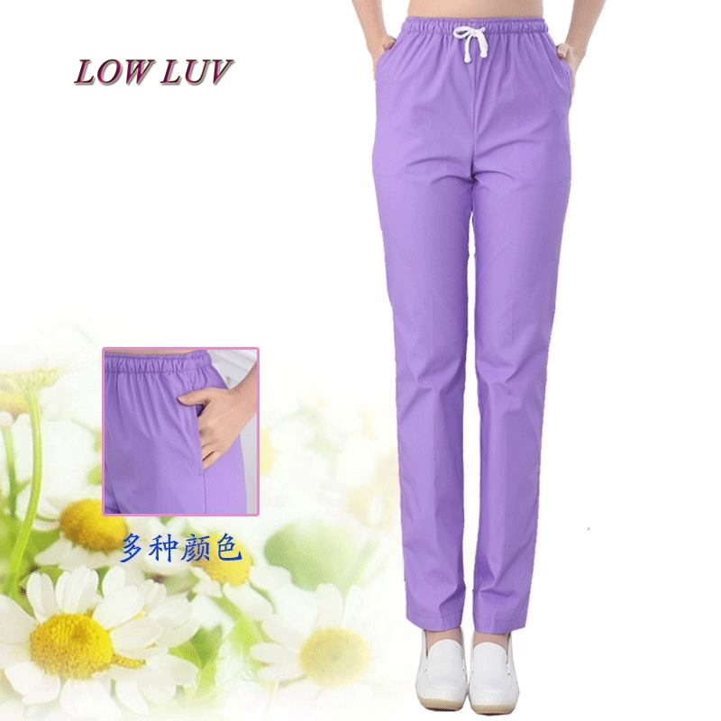 2017100% cotton Nurse uniform pants Beautiful uniforms pants