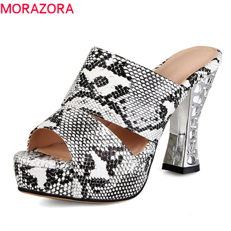 MORAZORA 2019 big size 44 women sandals open toe high heels platform shoes woman fashion sexy