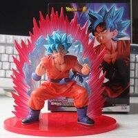 Anime Dragon Ball Super Son Goku Figure Super Saiyan God Kaiouken Goku Blue Hair Model Toy
