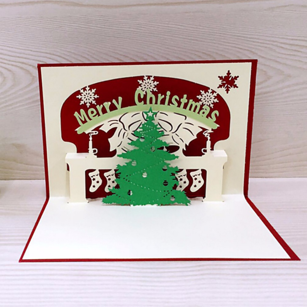 3d Christmas Cards Greeting Handmade Personalized Paper Card