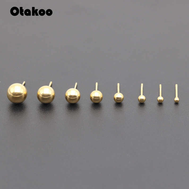 Otakoo 2PC เหล็กผ่าตัดเงิน,สีดำ, gold & Rose Gold สีต่างหู Punk หู Tragus เจาะหูปลอมสำหรับสตรี