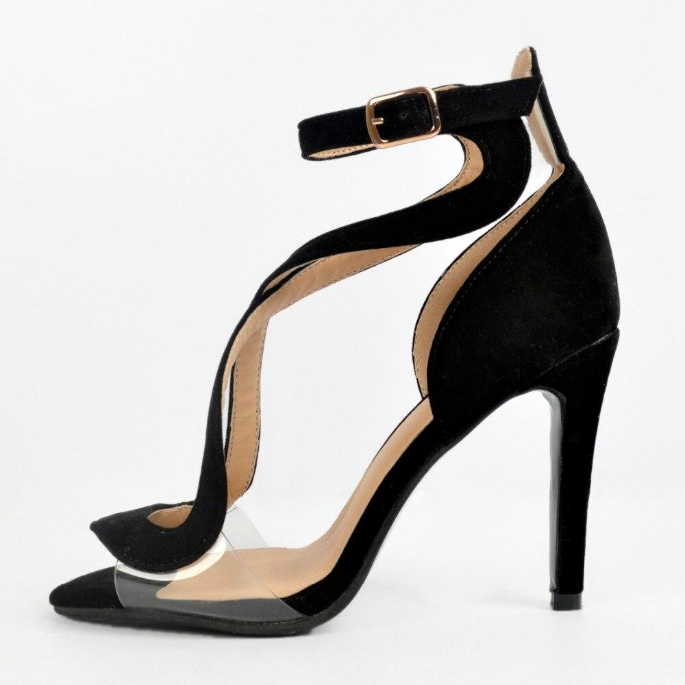 Negro Nuevo Tamaño Mujeres Mujer Zapatos Diseño 15 Sexy Toe Intención Original Tacones Delgados La Las Hermosa Más Sandalias De Xd266 4 Peep UwF6tqaxn