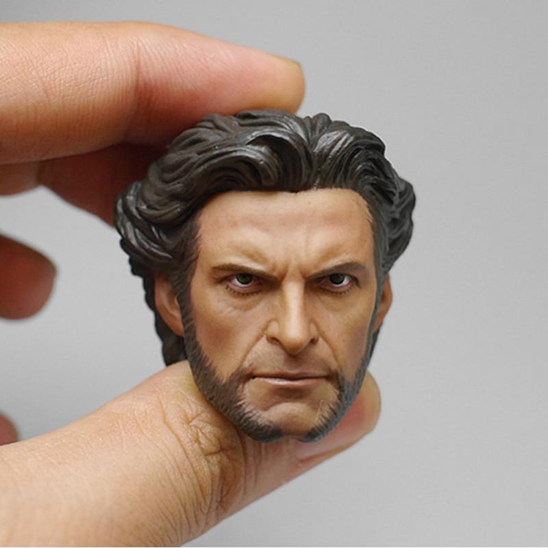 1/6 Wolverine Logan Hugh Jackman Head 1.0 for 12'' Figures