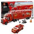 373 unids 10017 bela pixar cars equipo de ladrillos de construcción de camiones mack modelo juguetes de acción juguetes compatibles con lego