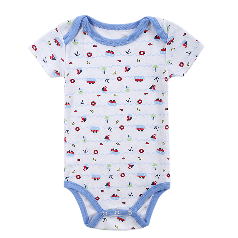 100%Cotton Fashion Anmail Style Printerd Infant Jumpsuit Clothes Baby Girls Bodysuit Babies Dresses Newborn Clothing 0-12 M