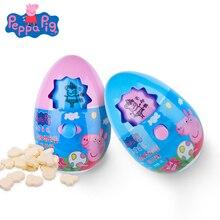 Original Peppa Pig Adventure Fun Egg Toy Cartoon Pattern Change Action Figure Model Milk Candy Snack Girl Children Birthday Gift
