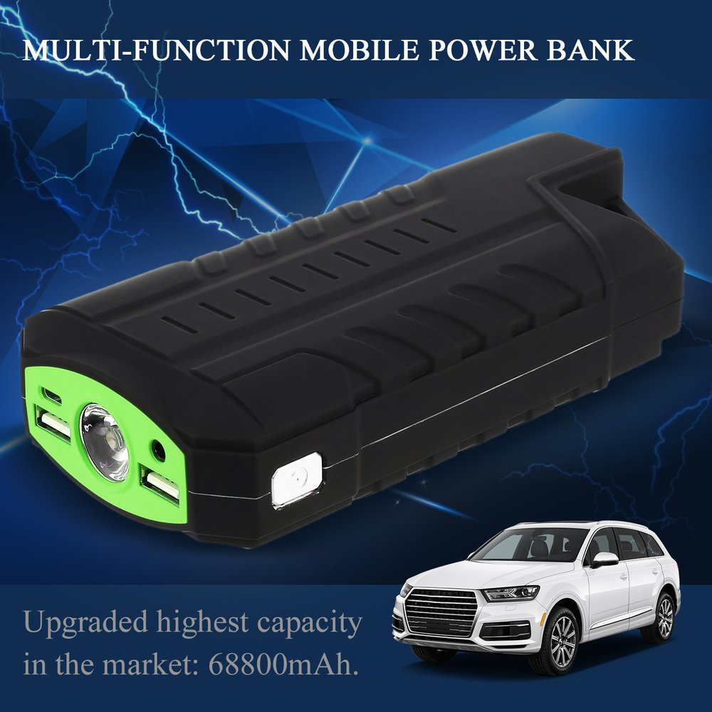 50800mAH High Capacity 12V 4 USB Portable Mini Car Emergency Jump Starter Booster Charger Power Bank For Emergency Car Charger(China)