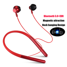 NEW Wireless Bluetooth Earphone Active Noise Cancelling Sports Stereo Headset Bluetooth V5.0 Neckband Headphone with Mic PK i7s daono v9 handsfree business bluetooth headphone with mic voice control wireless bluetooth headset for drive noise cancelling