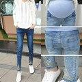 983 # Pedrería Bordado Borla Del Vientre Pantalones Vaqueros de Maternidad de Moda de Ropa para Las Mujeres Embarazadas Pregnnacy Lápiz Pantalones