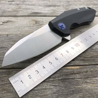 LDT 0456 Tactical Folding Blade Knife G10 Handle D2 Blade Bearing Flipper Hunting Knife Utility Pocket