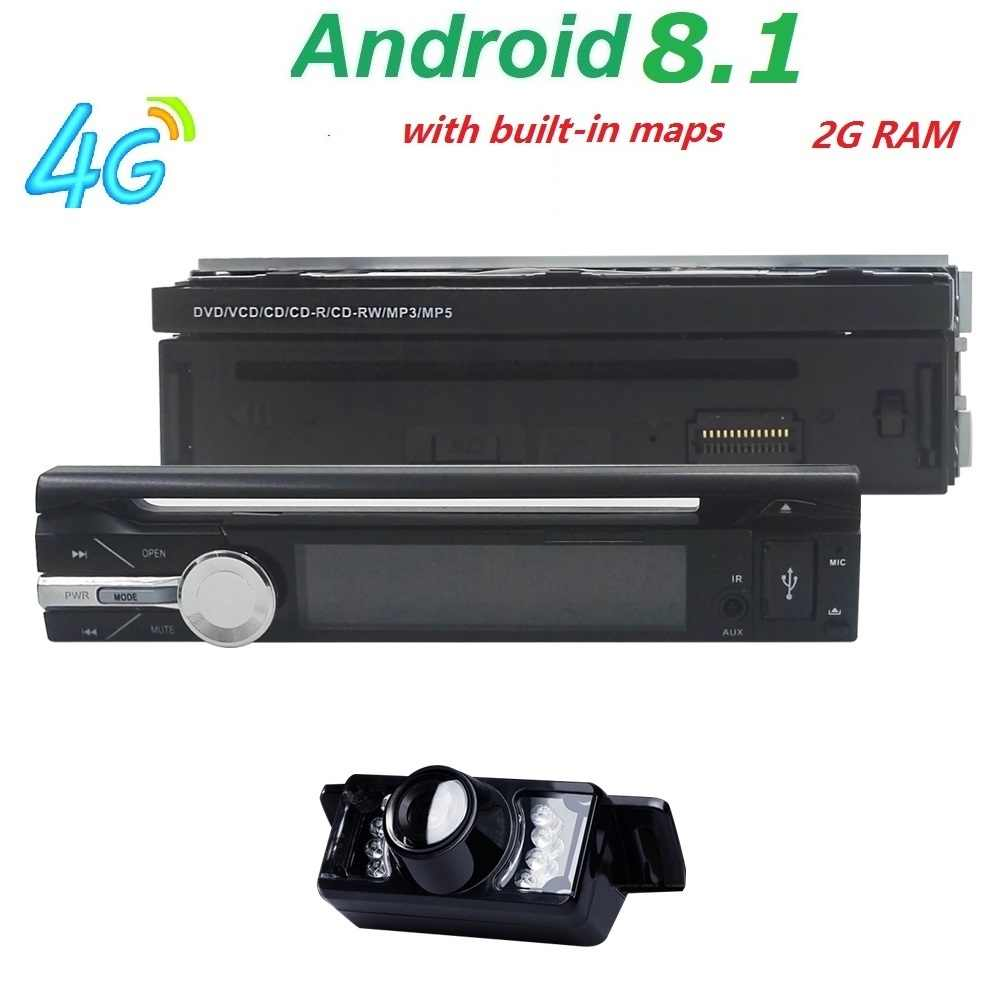 Android 8 1 Universal 1 Din Car video Player GPS Navigation In-dash  Detachable Front Panel 1 din Car Radio Stereo with BT 2G RAM