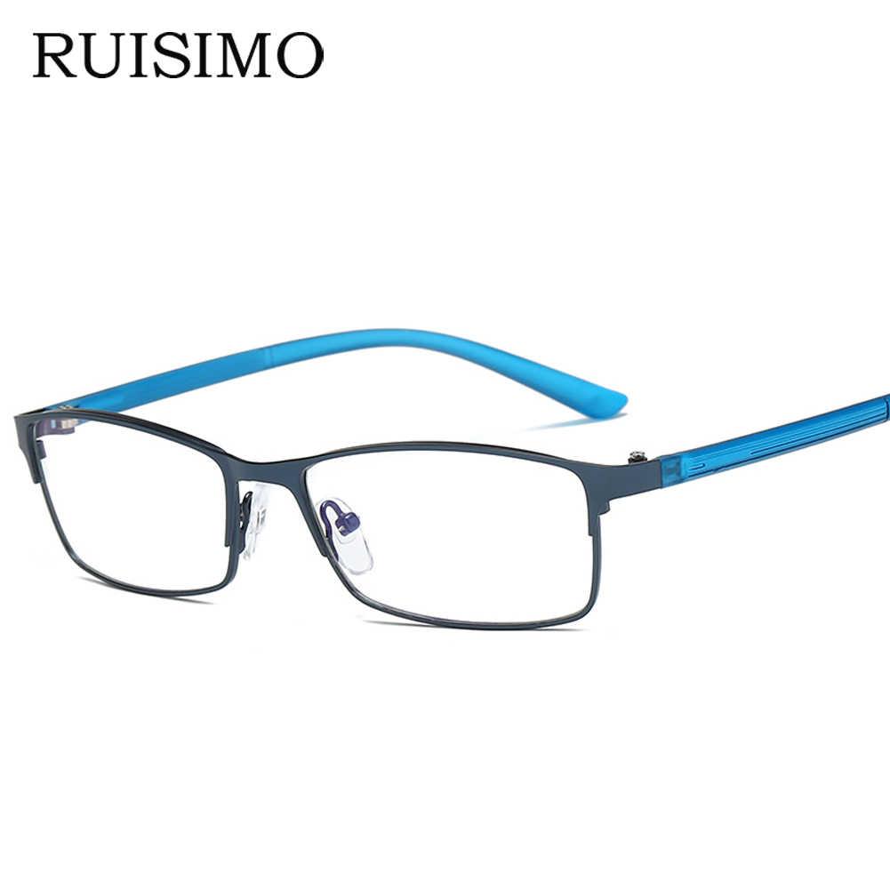 d168e86212 Colorful Glasses Frame Men Computer Gaming Goggles Eyeglasses Business Men  Essential Full-frame Glasses for