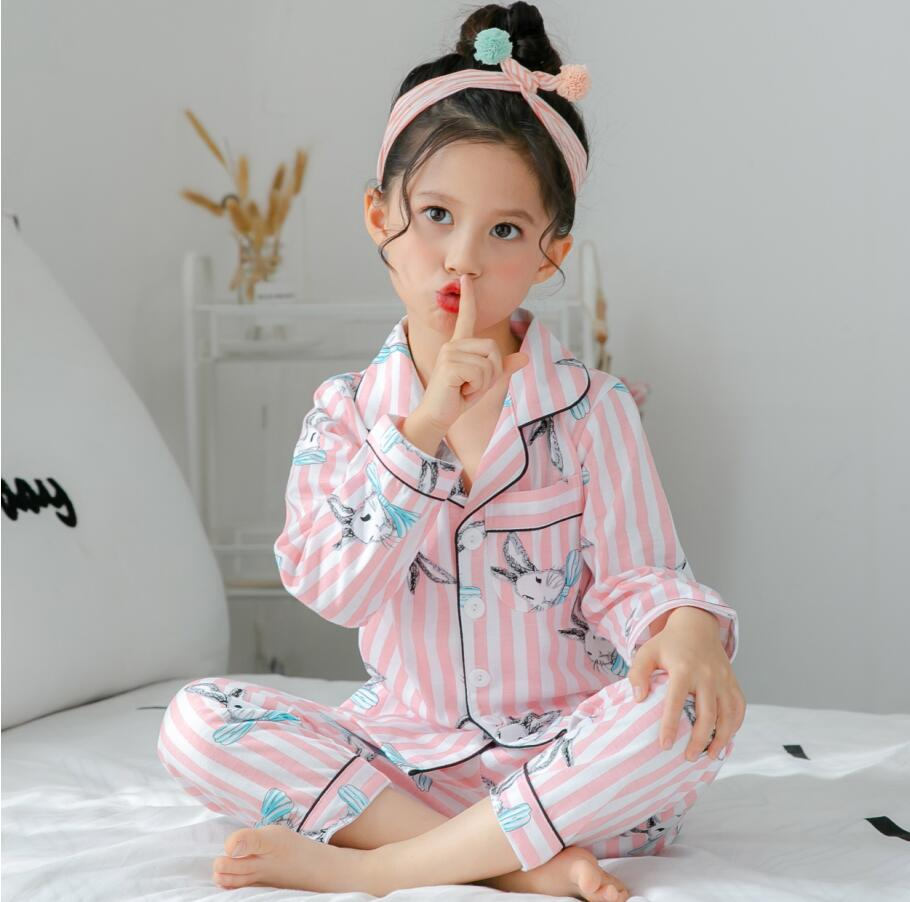 Lapel Spring Autumn Long Sleeve Children's Clothing Sleepwear New Arriver Pajamas Suit For Kids Boys And Girls Pyjamas Sets