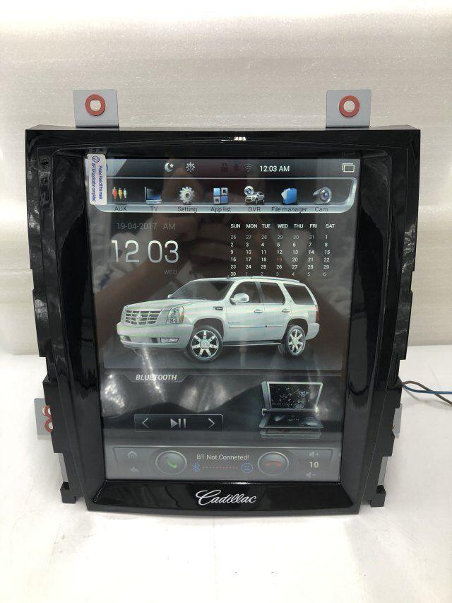 Vertical pantalla 10,4 Quad Core Tesla 1024*768 Android DVD del coche GPS de navegación Radio reproductor de Audio para Cadillac escalade RAM 2GB