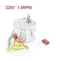 Metal Shell 1 5r Min 6W Watts 50Hz AC 220V Fan Synchronous Motor