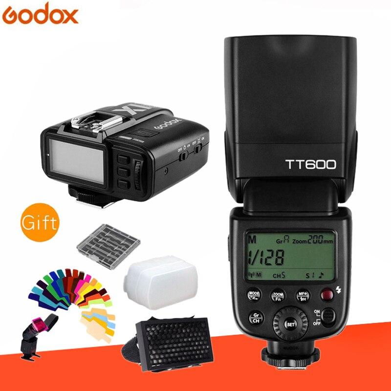 цена на Godox TT600 2.4G Wireless Camera Flash Speedlite + X1T- Transmitter Wireless Flash Trigger for Canon Nikon Fujifilm Olympus SONY