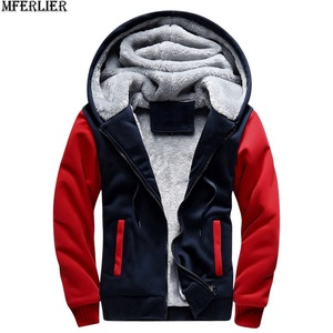 Image 3 - men parkas jackets blue hooded thick warm fleece plus large size big 8XL 9XL 10XL winter black out door out wear coat red home