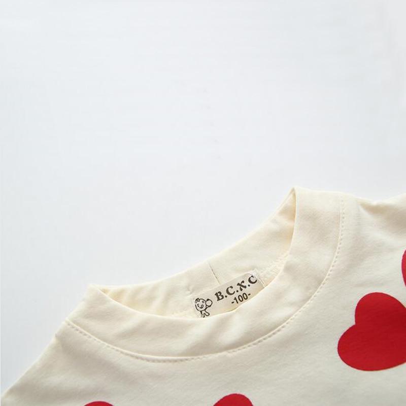 36683f49a2 Wiosna Jesień Serce Wzór Sukienki Dziewczyny Wesele Suknie Kid Ciepłe  Dzieci Sukienka Z Długim Rękawem Zima Odzież Wierzchnia Dziewczyny Odzież w  ...