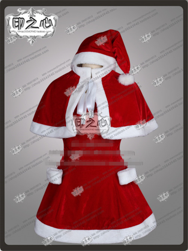 Anime Sword Art Online Yuuki Asuna Fashion Uniform Christmas Party Cosplay Costume Dress+Hat adult fashion sword art online long straight hair cosplay wig anime party free